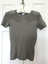 Genuine TSE Ultra-Soft Ribbed/Mesh CASHMERE SILK Knit Tee Top Sweater XS New$495