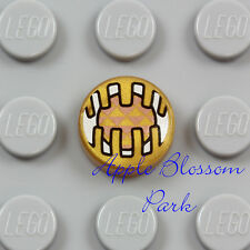 NEW Lego Minifig ELECTRONIC EYE 1x1 Coin Round Gold Flat Printed Star Wars Tile
