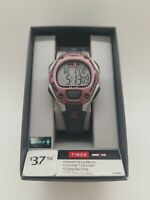 Timex Women's Ironman 30-Lap Digital Quartz Watch Gray/Pink T5K020 BRAND NEW