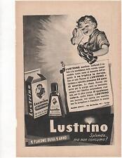 Pubblicità 1952 LUSTRINO SCARPE SHOES ITALY advert werbung publicitè reklame