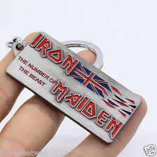 New Music Band Iron Maiden Metal Keychain Keyring Silver Color