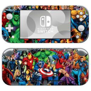 Nintendo Switch Lite Skin Decals Sticker Covers Vinyl Marvel Comic Super Heroes