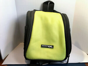 Nintendo DS, DSi and 3DS Backpack Bag Carry Case With Straps Yellow/Green Color