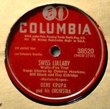 Gene Krupa Swiss Lullaby Delores Hawkins Jazz Dance 78 Galloping Comedians Polka