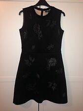Sportmax neoprene cut out lace mesh dress Size M NEW 300 GBP