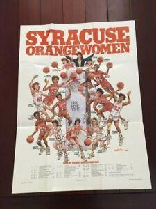 1988-89 Syracuse Womens Basketball Wall Calendar Poster HC Barbara Jacobs