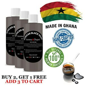 Liquid African Black Soap 16 oz. Raw 100% Pure Body Wash, Face & Hair Shampoo