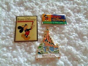 Job lot of 3 Euro Disney Paris cartoon character metal lapel pins