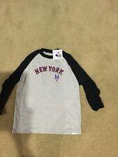 NEW YORK METS MAJESTIC BASEBALL SHIRT YOUTH SIZE LARGE NWT