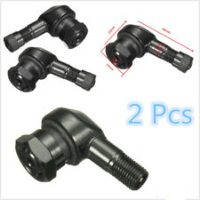 2 Pcs 11.3mm Black Motorcycle Bikes 90 Degree Rim Wheel Tire Valve Air Cust Caps