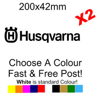 Husqvarna sticker decal car van Bike vinyl window JDM BASS VW funny x2