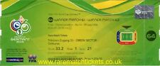 reproduction 2006 ITALY FRANCE world cup final PERSONALISED ticket