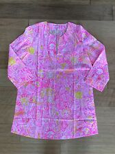 Lilly Pulitzer Marco Island Tunic Pink Pout More Kinis In The Keys Sm NWT $118
