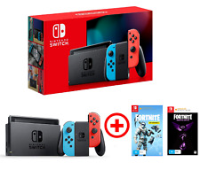 Nintendo Switch Neon Joy-cons Console + Fortnite Deep Freeze + Darkfire Bundle