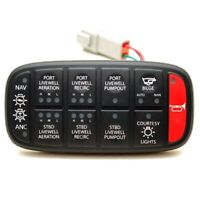 McGill Boat ON//OFF//ON Rocker Switch14 VAC Red Green