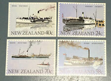 New Zealand Post Office - Paddle Steamers  - 4 Cards Mint Condition