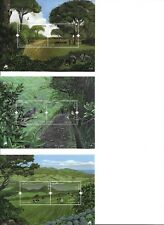 PORTUGAL AZORES MADEIRA EUROPA 3 MNH SOUVENIR SHEETS 2011 - FORESTS