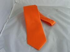 """Neon Orange>Polyester Mens Classic Necktie-TIES-3.3"""" =8cm Width>P&P2UK>1st Class"""