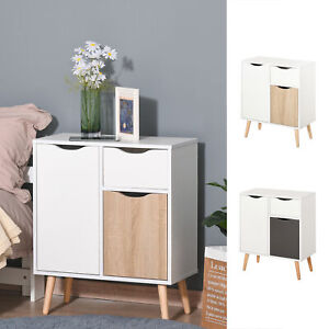 Floor Cabinet Storage Cupboard Sideboard with Drawer for Bedroom, Living Room