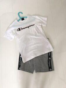 Boys Champion Shorts And T Shirt Grey White Age 11-12