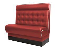 [412926] AMERICAN Gastro Sitzbank 120x110cm | Rot & Weiß | Chesterfield | Gastro