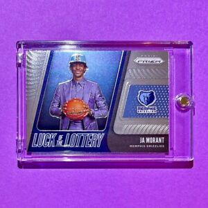 Ja Morant PANINI PRIZM ROOKIE CARD 2019-20 LUCK OF THE LOTTERY RC - Mint!
