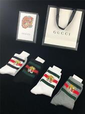 Gucci Socks Tiger Cotton Unisex 4 Pair/Box