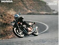 '82 Honda 6 Page CB900 CB900F Sales Brochure