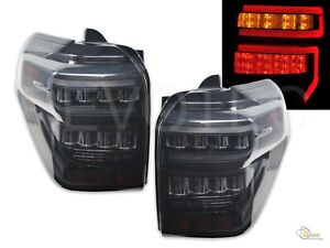 Black Smoke LED Tail Lights For Toyota 2014-2020 4Runner RH + LH