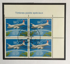 4 timbres suisses YT CH1537 se tenant FDC, Zum CH 918