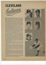 1960 Cleveland Indians Major League Baseball Magazine 2 Full Pages Print Ad