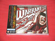 2017 JAPAN CD WARRANT Louder Harder Faster with 2 Bonus Tracks  TOTAL 13 TRACKS