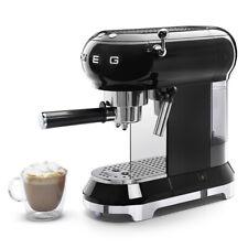 SMEG ECF01BLEU Espresso-Kaffeemaschine mit Siebträger 50`s Retro Style Schwarz