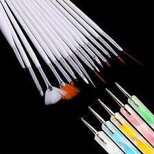 20Pc Nail Art Design Painting Dotting Detailing Pen Brushes Bundle Tool Classic