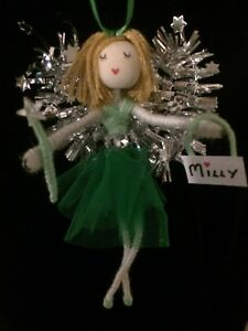 Irish Green Personalised Fairy Angel gift Hanging decoration Lucky