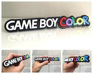 Game Boy Color 3D logo / shelf display / fridge magnet - gaming collectible