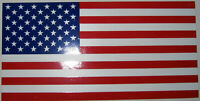 "4X7"" VINYL BUMPER/WINDOW STICKER - 50 STAR AMERICAN FLAG 100% Made in U.S."