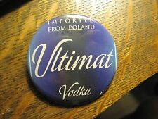 Ultimat Polish Poland Vodka Cocktail Label Advertisement Pocket Lipstick Mirror