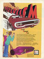 1971 Print Ad Arvin Performance Muffler Vaarrooom Johnny Lightning Road Runner