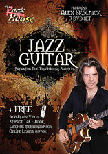 JAZZ GUITAR ALEX SKOLNICK GUITAR INSTRUCTION LESSON 3 DVD SET NEW