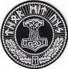 THORS HAMMER MOLJINOR THOR MIT UNS PATCH asatru viking odin rune norse mythology