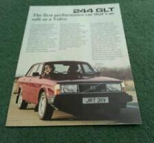 1980 VOLVO 244 GLT SALOON - UK SINGLE SHEET COLOUR LEAFLET BROCHURE