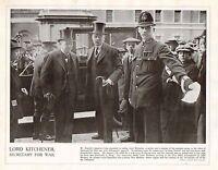1914 Stampa WWI ~ Lord Kitchener che Arrivano At The Guerra Ufficio Con Haldane