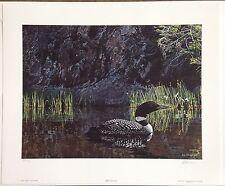 "Ron S. Parker ""Summer - Loon"" S/N Ltd Ed Print #89/950"