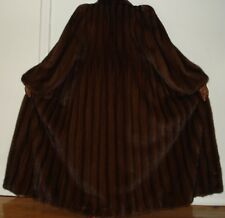 "NEW 51"" Long Finest Quality Mahogany Mink Fur Coat Size 10-12 FREE SHIPPING"