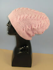 PAPER PRINTED KNITTING INSTRUCTIONS-CHUNKY CABLE SLOUCH HAT KNITTING PATTERN