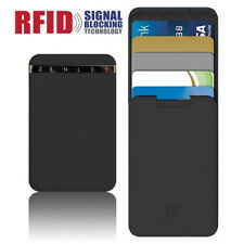 RFID Blocking Minimalist Wallet Card Holder Push-Pull Anti-Side Money Coin Thin