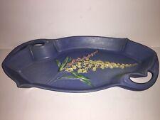 Vintage Roseville Pottery Blue Foxglove Tray Platter Plate Serving Dish Planter