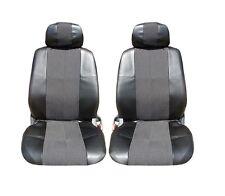 2 Vordere Stoff+Leder Sitzbezüge Schonbezüge Schwarz für Alfa Romeo Audi BMW