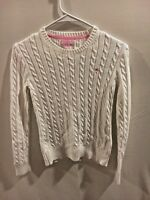 Lilly Pulitzer Women's White Pullover Sweater Cable Knit Size XS        E1